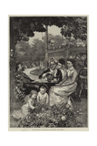 Tea and Music in the Park at Rotterdam Giclee Print by Alfred Edward Emslie
