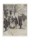 German Infantry at Exercise on Snow-Shoes Wydruk giclee autor Amedee Forestier