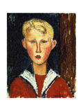 The Blue-Eyed Boy, 1916 Giclee Print by Amedeo Modigliani