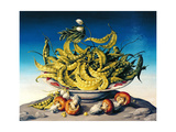 Peas in a Bowl Giclee Print by Amelia Kleiser