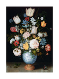 Bouquet of Flowers, 1609 Lámina giclée por Ambrosius Bosschaert the Elder