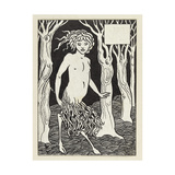 A Faun Giclée-tryk af Aubrey Beardsley