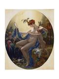 Portrait of Mlle, Lange as Danae, 1799 Giclée-tryk af Anne Louis Girodet de Roucy-Trioson