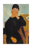 Elvira Resting at a Table, 1919 Giclee Print by Amedeo Modigliani