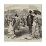 The All-England Croquet Club at Wimbledon Gicléetryck av Hopkins, Arthur