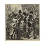 A Fashionable Charity Bazaar Giclee Print by Arthur Hopkins