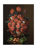 Poppies in a Terracotta Vase, 2000 Giclee Print by Amelia Kleiser