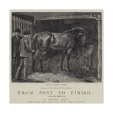 From Post to Finish, a Racing Romance Gicléetryck av Hopkins, Arthur