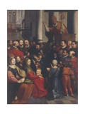 Saint Eligius Preaches in Antwerp Giclee Print by Ambrosius Francken the Elder
