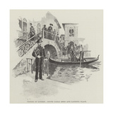 Venice in London, Ponte Carlo Zeno and Landing Place Giclee Print by Amedee Forestier