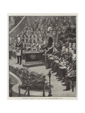 Grand Masonic Gathering in the Royal Albert Hall in Honour of the Queen's Jubilee Giclee Print by Amedee Forestier