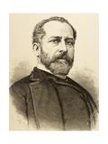 Eleuterio Maisonnave Y Cutayar (1840 - 1890). Spanish Politician Engravin by Carretero, 1890 Giclee Print by Arturo Carretero y Sánchez