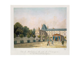 View of Malmaison from the Orangery, Engraved by Nicolas Chapuy, C.1810S Giclee Print by Antoine Pierre Mongin
