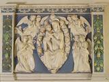 Madonna with Child with Angels Photographic Print by Andrea Della Robbia