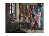 Couturier's Workshop in Arles, Ca 1760 by Antoine Raspal (1738-1811), France, 18th Century Giclee Print by Antoine Raspal