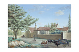 View of the Trou D'Enfer Farm Between Saint-Germain and Marly, C.1810 Giclee Print by Antoine Pierre Mongin
