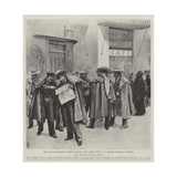 The Spanish-American Crisis, Reading the Latest News at a Street Corner in Seville Giclee Print by Amedee Forestier