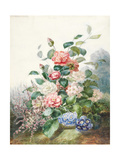 Various Flowers Growing in a Landscape Setting Giclee Print by Antoine Pascal