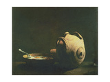 Still Life with Eggs on a Plate, 19th Century Giclee Print by Auguste Theodule Ribot