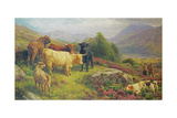 The Glorious 12th August, Loch Em Giclee Print by Basil Bradley