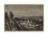 View of the Bay of Mount St Michael, from Avranches, Normandy Giclee Print by Auguste Victor Deroy