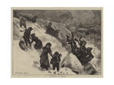 Coasting at Omaha Giclee Print by Arthur Boyd Houghton