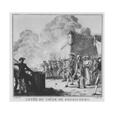The Raising of the Siege of Pondicherry, 1789 Giclee Print by Antoine Louis Francois Sergent-marceau