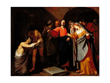 The Raising of Lazarus, C.1630 Giclee Print by Andrea Vaccaro