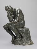 The Thinker Giclée-tryk af Auguste Rodin
