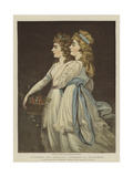 Elizabeth and Georgiana, Duchesses of Devonshire Giclee Print by Angelica Kauffmann