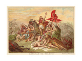 Battle of Tolbiac, 496 Giclee Print by Ary Scheffer