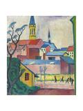 Marienkirche, 1911 Giclee Print by August Macke