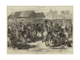 The Ashantee War, General Market, Cape Coast Castle Gicléetryck av Hopkins, Arthur