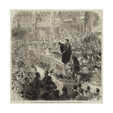 The Easter Volunteer Review at Brighton, Service in the Pavilion on Sunday Morning Giclee Print by Arthur Hopkins