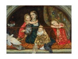 Mrs Leathart and Her Three Children, C.1863-65 Giclee Print by Arthur Hughes