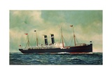 Steamer Kroonland, 1903 Giclee Print by Antonio Jacobsen