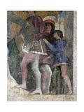 Courtiers Giclee Print by Andrea Mantegna