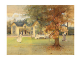 The Lawn Tennis Party at Marcus, 1889 (Pencil, W/C, Heightened with Bodycolour) Giclee Print by Arthur Melville