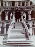 Doge's Palace Staircase, Venice, C.1870 Giclee Print by Carlo Naya