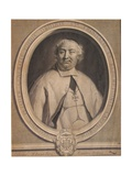 Eustache Teissier, Engraved by Gérard Edelinck (1640-1707), 1690 Giclee Print by Andre Bouys