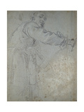 Study of a Draped Male Figure Giclee Print by Annibale Carracci