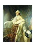 Portrait of Louis XV Wearing Robes of State Giclee Print by Antoine Francois Callet