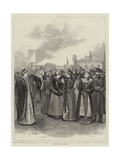 The Racing Season in the South of France, in the Paddock at the Nice Steeplechases Giclee Print by Arthur Hopkins