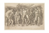 Bacchanal with Silenus, Early 1470s Giclee Print by Andrea Mantegna