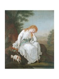 Possibly Maria of Moulines from Sterne's 'Sentimental Journey', 1766-81 Giclee Print by Angelica Kauffmann