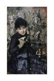 Woman with Inkwell, Ca 1875 Giclee Print by Antonio Mancini