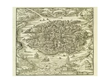 City of Quinsai (Now Tianjin) Giclee Print by Andre Thevet