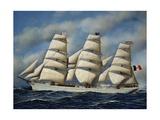 Italian Sailing Ship Maria Teresa, Shipowner Pietro Milesi, 1901 Giclee Print by Antonio Jacobsen