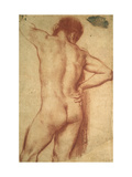 Study of a Nude Man Giclee Print by Annibale Carracci