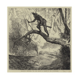 American Sketches, On the Scout, a Scene in the Backwoods Giclee Print by Arthur Boyd Houghton